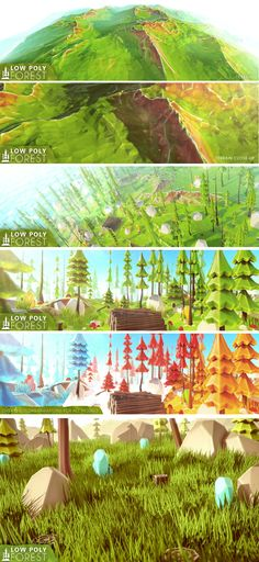 AAA Low Poly Forest Turn yours low poly games to a next level!  - 50% OFF!! *Normal price : 14,99*  - Features :  - High quality low poly art models!- - Unwrapped!- - Normal Mapped!- - Ambient occlusion Mapped!- - Smoothed edges!- - Over 6 colors variations for all models!- - Standard shader ready!- - Optimized models and textures- - Free island terrain!- - Demo scene included!- 36 Unique trees - 1 Big island terrain - 13 Unique rocks - 3 Ore Stones - 14 Unique mushrooms - 6 Unique grass