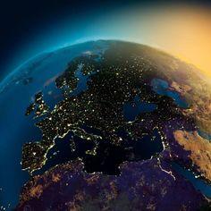 Incrível! Astronautas capturam lindas fotos da Terra à noite http://r7.com/0Z2B