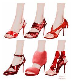 靴 by 歩 on Twitter