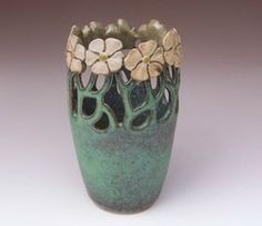 Art Nouveau style vase by Maid of Clay Pottery