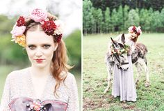 """From a style shoot called """" A Midsummer Nightmare"""" Photographer: Alicia Swedenborg Decor: Maria Ahlin Cosume & make up: Karolina Olson Haglund Florist & hairstyling: Madelin Downey Graphic design: Cecilia Börjesson. See more at http://vintagehoneymoon.se/2014/02/style-shoot-a-midsummer-nightmare/"""