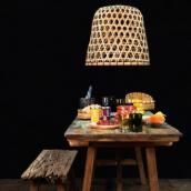 Bamboo Lattice Lampshade