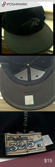 Montana State University Hat Zephyr brand. Black with dark gray brim. Barely used. Zephyr Accessories Hats