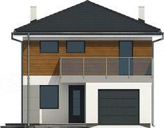 Projekt domu Zyta z garażem 1-st. [A] 118,9 m2 - koszt budowy - EXTRADOM House Plans, Garage Doors, How To Plan, Outdoor Decor, Home Decor, Arquitetura, Homes, Decoration Home, Room Decor