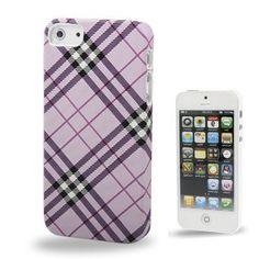 Iphone 5 Cover Lila Kariert (harte Rückseite) von CNP