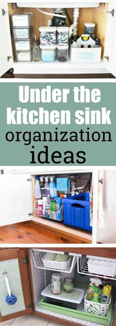 Ideas For Kitchen Sink Cabinet Organization Diy Crafts Under Kitchen Sink Organization, Kitchen Sink Storage, Kitchen Sink Faucets, Diy Kitchen, Kitchen Organization, Organization Hacks, Kitchen Tips, Kitchen Ideas, Kitchen Reno