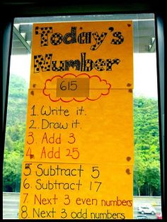 DIY a poster for a daily math warm-up. 19 Ridiculously Simple DIYs Every Elementary School Teacher Should Know Math Sheets, Daily Math, Second Grade Math, Grade 2, Third Grade, Teaching Second Grade, Sixth Grade, E Mc2, Math Numbers