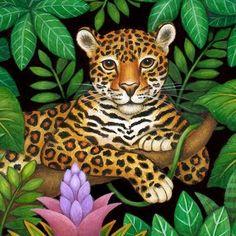 салфетка Art And Illustration, Illustrations, Animal Paintings, Animal Drawings, Jungle Art, Tropical Art, Naive Art, Wildlife Art, Art Plastique