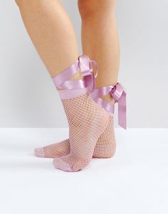 Browse online for the newest ASOS Fishnet Bow Strap Ankle Socks styles. Shop easier with ASOS' multiple payments and return options (Ts&Cs apply). Fishnet Socks, Sheer Socks, Lace Socks, Pink Socks, Asos, Fashion Heels, Sneakers Fashion, Ballerinas, Nylons