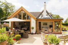 Extending a house: the ultimate guide for building a house extension oak kitchen exterior