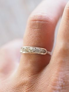 Soul Light // Raw Diamond Ring Diamonds are the symbol of commitment and fidelity.