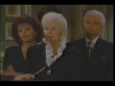 Days of our Lives: Tom Horton's funeral (Part 6 of Frances Reid, Macdonald Carey, Kristian Alfonso, Julie Williams, Crazy Day, Soap Stars, Vintage Tv, Days Of Our Lives, Back In The Day