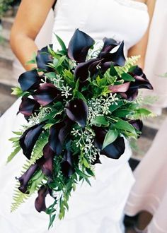 Dark Calla lily bouquet