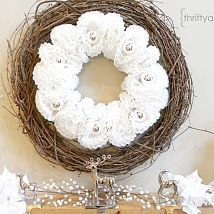 Super easy ....and cheap :).... wreath made from coffee filters and or… :: Hometalk