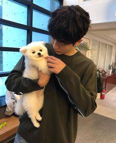 Nam Joohyuk with a puppy 😍 Nam Joo Hyuk Cute, Kim Joo Hyuk, Jong Hyuk, Hot Korean Guys, Korean Men, Korean Actors, Weightlifting Fairy Kim Bok Joo Wallpapers, Nam Joo Hyuk Wallpaper, Oppa Ya
