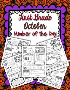 October Number of the Day for first grade!