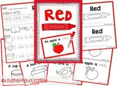 Kinder Alphabet - Teacher Resources in English and Spanish Kindergarten Colors, Preschool Colors, Teaching Colors, Preschool At Home, Kindergarten Classroom, Classroom Activities, Preschool Activities, Teaching Ideas, Classroom Ideas