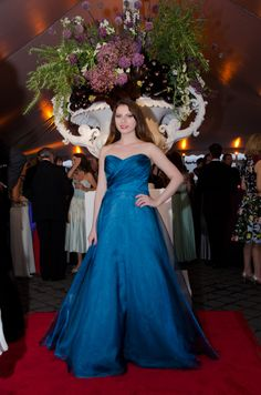 Blue THEIA ball gown