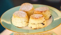 Fortnum's Scones - 6 tbsp unsalted butter, cubed 2 Cups sifted self-raising flour, extra to dust 1 tsp baking soda 2 tbsp superfine sugar cup buttermilk, 1 large egg Milk for brushing Cook at 425 Dessert Cake Recipes, Tea Recipes, Sweet Recipes, Desserts, Best Scone Recipe, British Sweets, High Tea Food, Food Tasting, Strawberry Recipes
