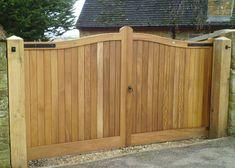 Henley bespoke wooden gate pair installed in Wiltshire