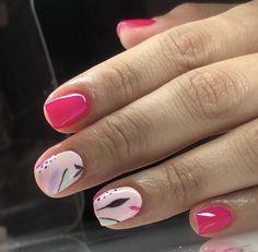 Cute Nail Polish, Gel Nail Art, Cute Nails, Nail Art Hacks, Acrylic Nails, Gelish Nails, Nail Manicure, My Nails, Precious Nails
