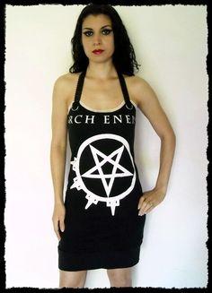 Arch Enemy Angela Death Metal Shirt Mini Dress S M L XL