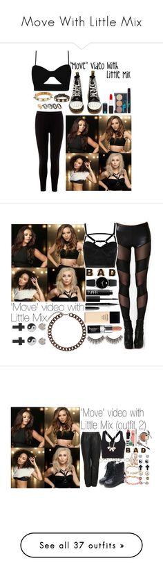 """""""Move With Little Mix"""" by little-mix-are-babes ❤ liked on Polyvore featuring Warehouse, Dr. Martens, River Island, ASOS, Valentino, Nasty Gal, Topshop, Forever 21, 1&20 Blackbirds and Movado"""