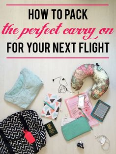 How to pack the perfect carry on for your next flight | What to pack for the flight, holiday and layover, and how to keep your hand luggage within the weight limit when travelling.   www.wishlistsandwanderings.com