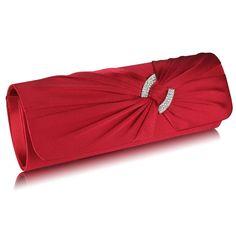 Spoločenská dámska kabelka je v elegantnom prevedení. Kabelku zdobia ligotavé kamienky na ozdobe. Kabelka má polstrovaný saténový povrch, ktorý je príjemný na dotyk. Ku kabelke je doplnená o retiazku. Kabelka je vhodná na spoločenské udalosti ako napríklad svadby, plesy, oslavy a pod.Červená