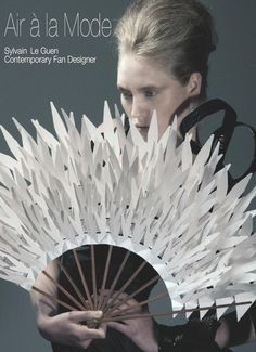 Handfan: Air à la Mode by Sylvain Le Guen Shades Of White, Black And White, Hand Held Fan, Hand Fans, Origami, Antique Fans, White Spirit, 3d Cnc, Creation Photo