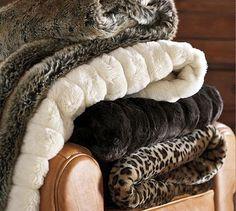 Faux fur blankets/throws