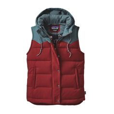 Choose the Women's Patagonia Bivy Hooded Vest for your next outdoor fall adventure. Purchase this women's Patagonia vest online or in-store at SCHEELS. Red Vest, Vest Jacket, Red Waistcoat, Patagonia Vest, Patagonia Brand, Hooded Vest, Jackets For Women, Clothes For Women, Women's Jackets
