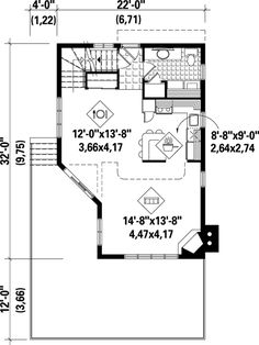 Contemporary House Plan 49302 Level One