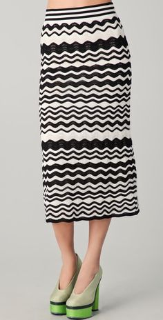 missoni. bold black and white always stands out. plus, missoni knits are super-comfy - perfect for the busy hostess!