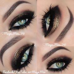 .@maya_mia_y | Bronze NYE makeup I used @motivescosmetics @Sally Pine Lee Stell Lashes by @Susan Caron Caron Nelson... | Webstagram