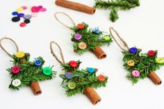 Yummy Smelling And Pretty DIY Cinnamon Stick Tree Ornaments | Kidsomania