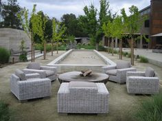 Bocci ball court by Lou Penning Landscapes Inc. regulation size is 91' x 13'