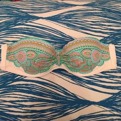 Victoria's Secret Bikini Bandeau VS bikini bandeau in paisley green Victoria's Secret Swim Bikinis
