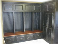 Our new mudroom lockers, We recently added space on to our home including a mudroom!  We were inspired by a photo we saw on HGTV.  Here is our version of the inspiration piece.  We love it!, our new mudroom lockers with inspiration from HGTV, Closets Design