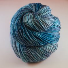 Hand Dyed Sock Yarn hand dyed wool tonal sock by JellybeansYarns