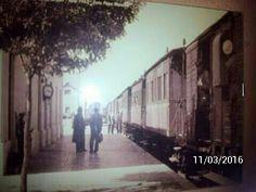 Estación de ferrocarril . Años 60.