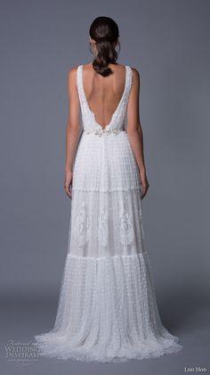 lihi hod 2017 bridal sleeveless deep plunging v neck full embellishment sexy bohemian a line wedding dress v low back sweep train (sydney) bv