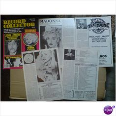 Madonna. Her British Releases 4 page feature + cover Record Collector magazine