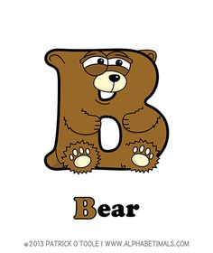 Bear - Alphabetimals make learning the ABC's easier and more fun! http://www.alphabetimals.com