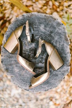 Gold wedding shoes -