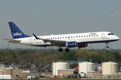 JetBlue E190.  I work on these every day.  In fact, I've serviced that exact aircraft a few times.