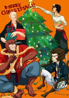 ANIMATOR Hosoda Mamoru, Bakemono no ko (The Boy and The Beast) Hyakushubo, Kyuta, Kumatetsu, Tatara, Merry Christmas!!