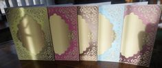 Inspiration Blank Pastel Card Fronts Kit by Gill Dean
