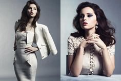 """""""La Dolce Vita"""" Felicity Jones models all Dolce & Gabbana for Marie Claire US, May 2012"""