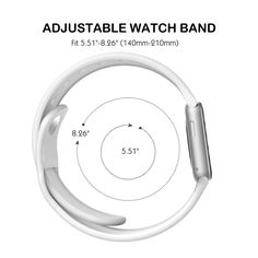 Apple Watch Band, Smarco Soft Silicone Replacement Watch Band for 42mm Apple Watch(Not for 38mm Version,3pcs Bands for 2 Lengths)(White)